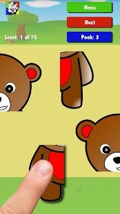 Děti zvířata puzzle: Zdarma - náhled