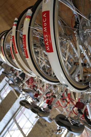 Photo: A beautiful day to ride one of our beautiful MASS MoCA bikes!