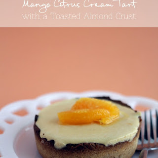 Mango Citrus Cream Tart with a Toasted-Almond Crust