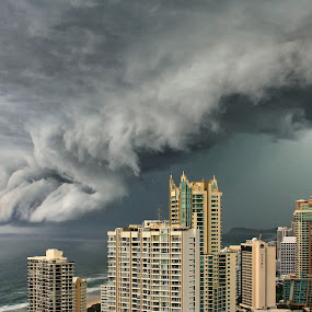 by Ann Van Breemen - Landscapes Cloud Formations ( clouds, queensland, high rise )