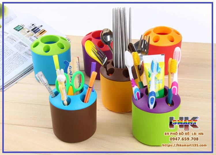 Cốc để bút, bàn chải và kem đánh răng đa năng