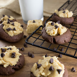 Peanut Butter Fudge filled Chocolate Thumbprints