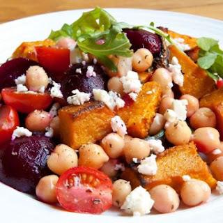 Roasted Veggie Chickpea Salad
