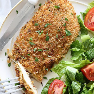 Mustard Herb Crusted Chicken Breasts.