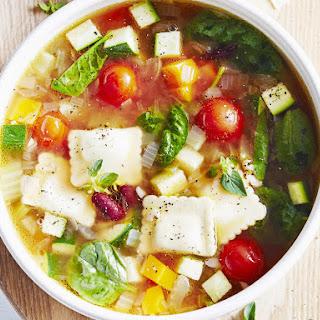 Ravioli Minestrone Soup
