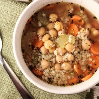 Vegan Chicken and Stars Soup