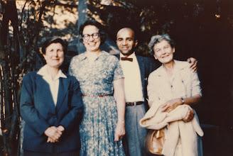 Photo: F. N. David, Elizabeth L. Scott, David Blackwell and Evelyn Fix