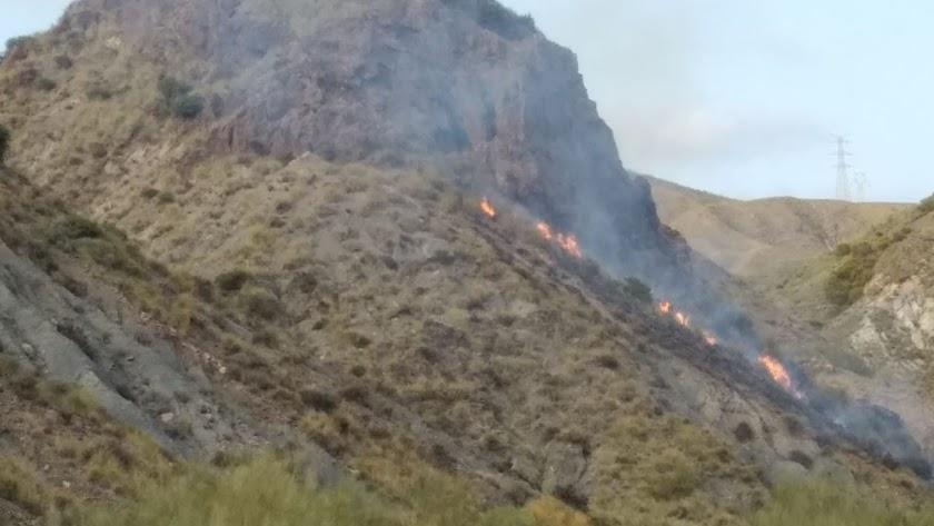 Imagen del incendio publicada por el Infoca en su cuenta de Twitter.