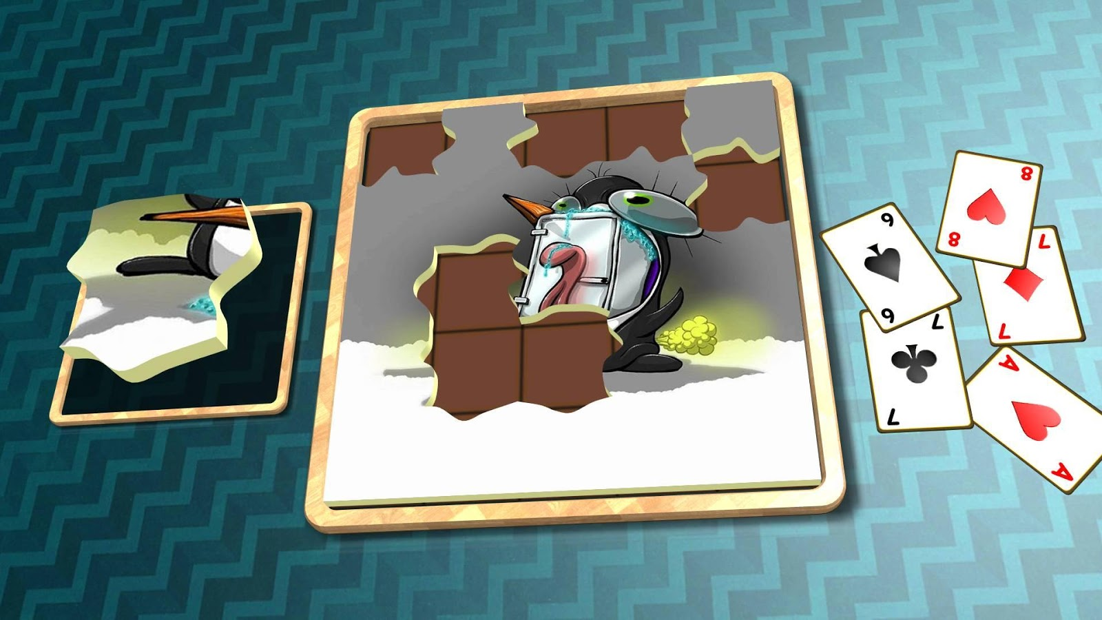 Jigsaw Solitaire - Penguins- screenshot