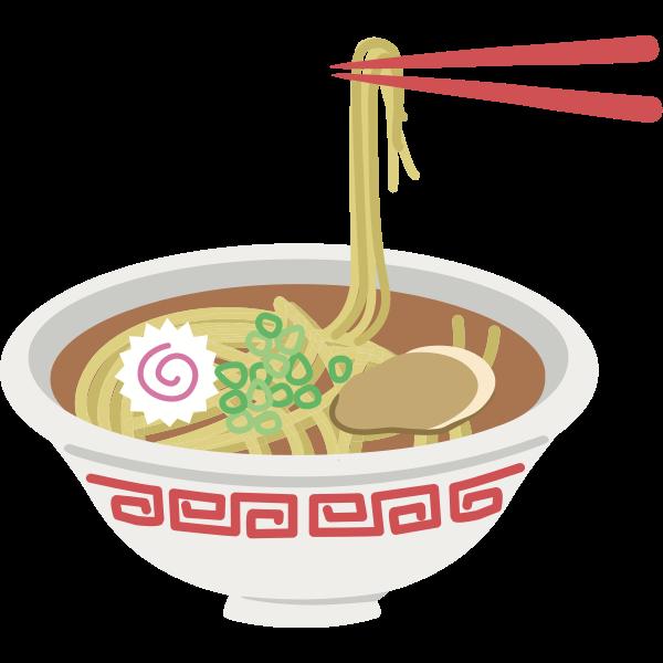 Noodle bowl graphic