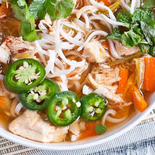 Asian-Inspired Slow Cooker Chicken Noodle Soup.