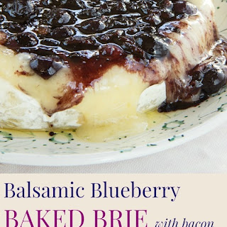 Balsamic Blueberry Baked Brie with Bacon