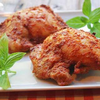 Spicy Boneless Skinless Baked Chicken Thighs.