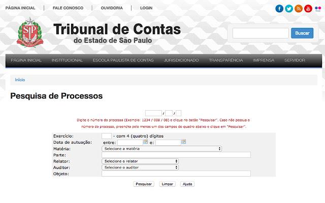 TCE-Ajuste de tela de processo (Não Oficial)