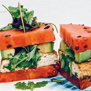 Vegan Watermelon Avocado Poke Burger Recipe