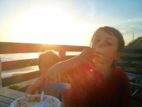 Photo: Boys Enjoy Cherries at Crystal Cove