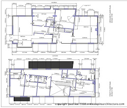 Photo: Ground and First Floor Plans: Energy Efficient Dwelling, Rathcormac, County Cork, Ireland. The project was carried out entirely in SketchUp Pro/ LayOut
