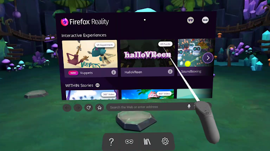 Firefox Reality Browser fast & private Screenshot