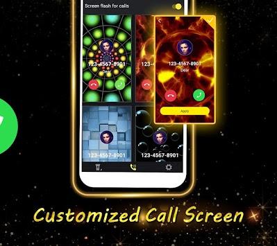 Phone Caller Screen - Color Call Flash Theme