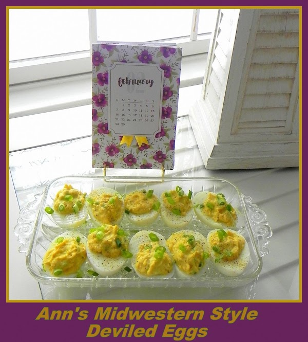 Fill your eggs with the deviled egg mixture and garnish with sliced green onions....