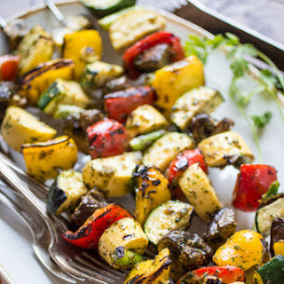 Spicy Thai-Style Grilled Veggie Skewers.