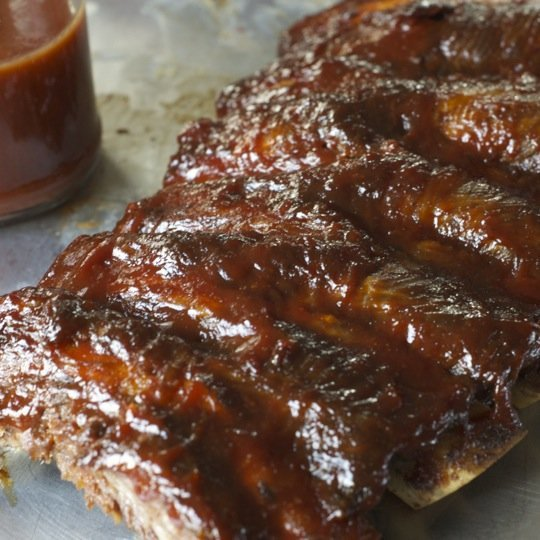 barbecue ribs oven roasted ribs with barbecue sauce recipe yummly oven ...