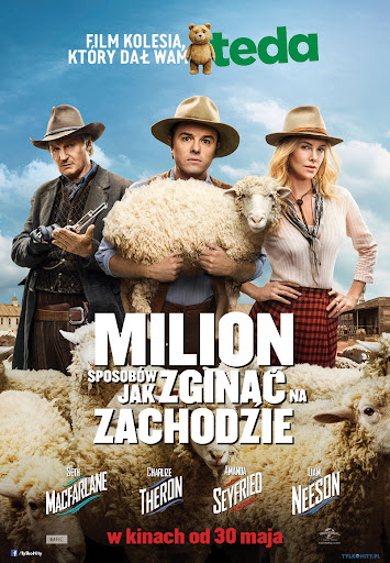 Polski plakat filmu 'Milion Sposobów Jak Zginąć Na Zachodzie'
