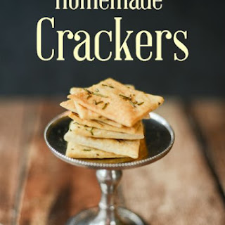 Homemade Mediterranean Rosemary Sea Salt Crackers