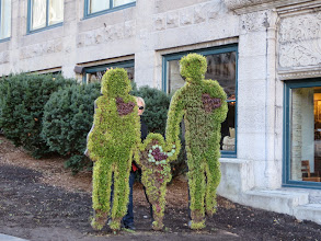 Photo: Some people made out of shrubbery.