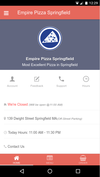 Empire PIzza Springfield- screenshot