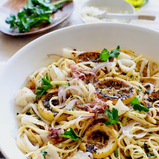 Simple Squid Piccata.