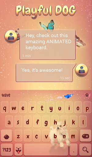 Playful Dog Animated Keyboard + Live Wallpaper 3.33 screenshots 3