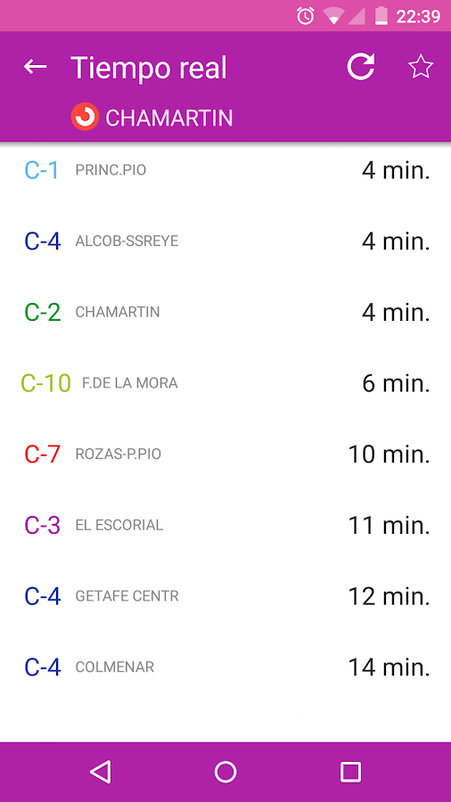 Transporte Madrid - EMT Interurbanos Metro TTP- screenshot