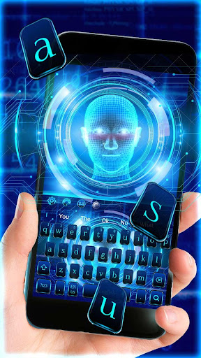 Screenshot for Human Face Lock Screen Keyboard Theme in United States Play Store