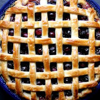 Honey Balsamic Blueberry Pie