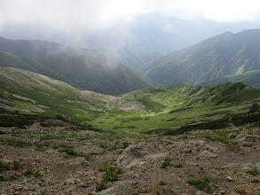 中岳の南斜面はカール地形