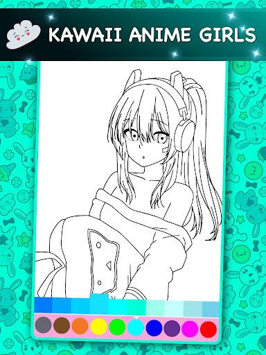 Kawaii - Anime Animated Coloring Book 2.6 screenshots 2