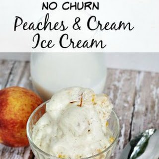 Homemade Peaches & Cream No Churn Ice Cream Recipe
