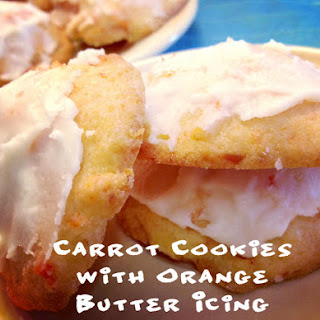 Grandma's Carrot Cookies with Orange Butter Icing.