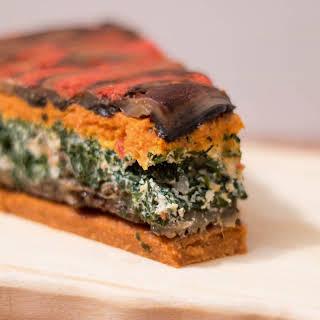Vegan Pizza with Mushrooms and Quinoa.