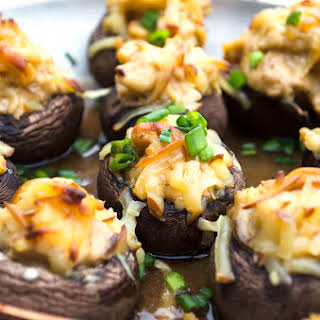 Lobster Stuffed Mushrooms.