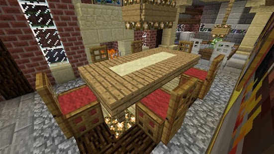 Furniture mod for minecraft pe android apps on google play for Dining room designs minecraft
