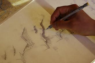 Photo: 下描きをトレース。 そのうえで、スキャナー・・・・・。 あくまでも手描きがベスト