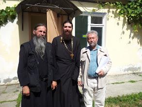Photo: Hieromonje Akakije (Stankovich) de Serbia, Padre Siluan y el Lector Vladimir Moss