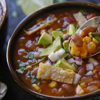 Chipotle Pinto Bean Tortilla Soup.