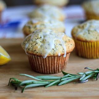 Lemon Rosemary Poppyseed Muffins