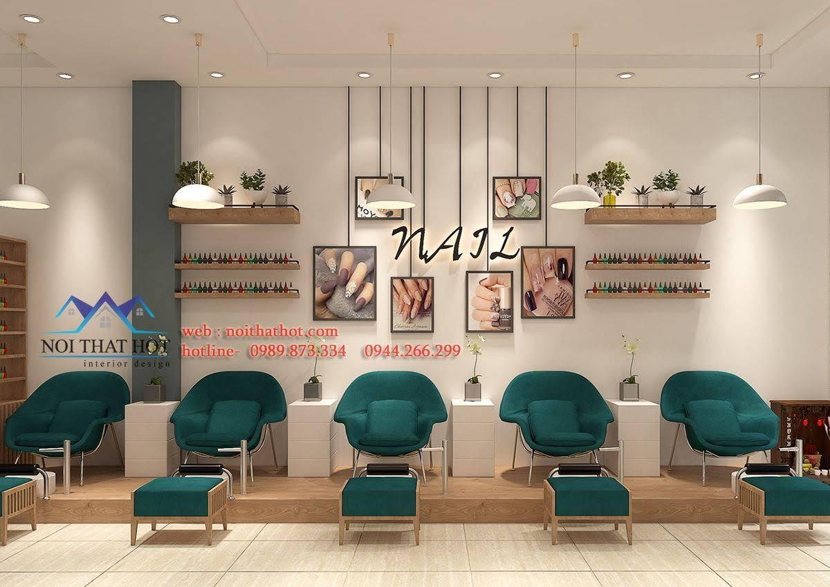 thiết kế cửa hàng nail 2