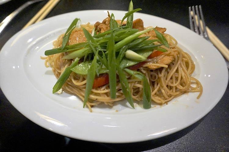 A noodles dish in Shanghai Noodle Bar on deck 7.