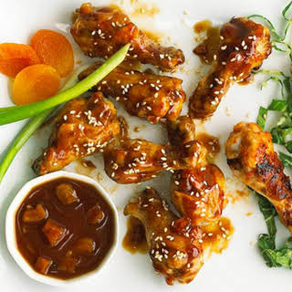 Thai Chicken Wings with Peanut Sauce.