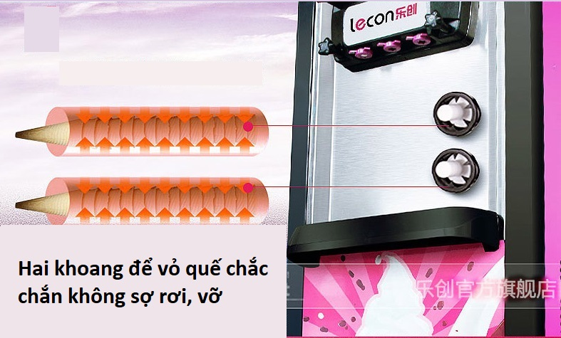 Máy làm kem Lecon tự động - ảnh 2